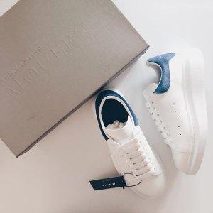 $480 (原价$585)Alexander Mcqueen 小白鞋  沈梦辰同款海军蓝