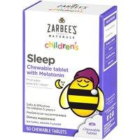 Zarbee's Naturals 儿童褪黑素,葡萄口味,50粒咀嚼片