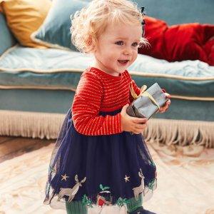 低至6折 多款官网售罄款上新:Mini Boden 高品质童装促销 英伦风童趣服饰