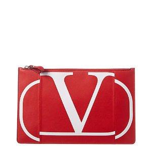 ValentinoVLogo 红色手拿包