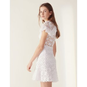 SandroRuffled Lace Dress