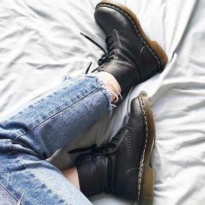 无门槛8折 三孔复古皮鞋$116入Dr.Martens超酷工装时代 经典8孔1460马丁靴热卖