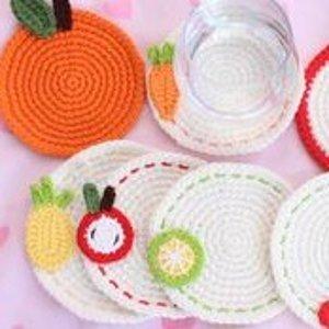 7折 DIY工具包$16收DIY 编织垫 可爱定制萌物杯垫材料合集 巧手少女新风向