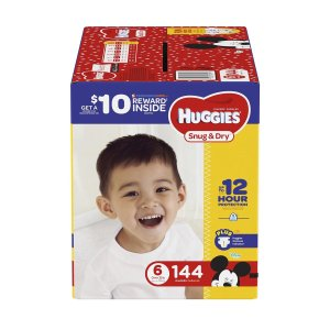 $8 off when you buy 2Sam's Club Huggies Little Movers Diapers