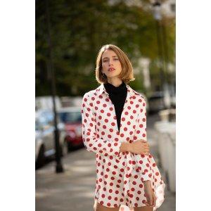 Miss Londoner波点衬衣裙