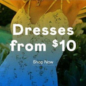 低至2折+额外9折 $5.4起Nasty Gal 精美小裙纸热卖