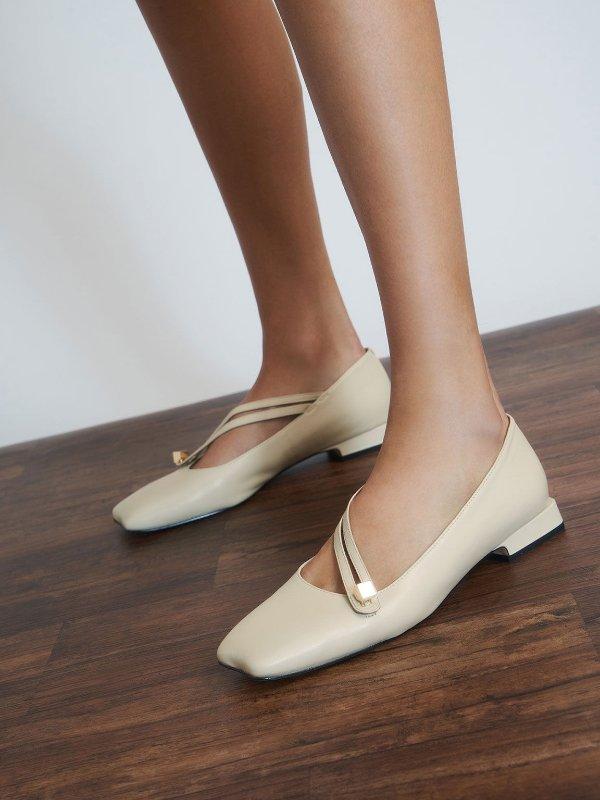 设计感平底鞋