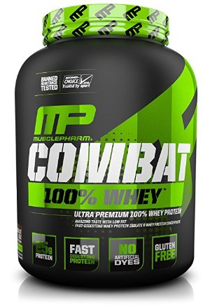$26MusclePharm Combat 100% Whey Protein Powder 5lbs Chocolate Milk