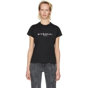 Givenchy - Black Destroyed Logo T-Shirt