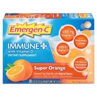 Emergen-C 1000mg 维生素C 橘子味 30包 含维生素D