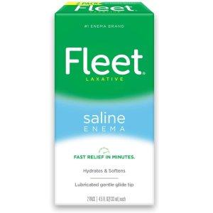 Fleet 成人便秘灌肠泻药 4.5 fl oz, 2瓶 医师推荐品牌