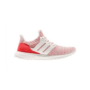 AdidasWomen's Adidas UltraBOOST 4.0 Running Shoe - Color: Chalk White/Active Red (Regular Width) - Size: 8.5