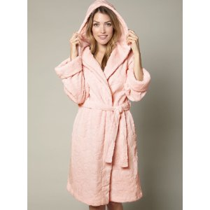 Boux AvenueFlorence Hooded Robe - Blush 浴袍