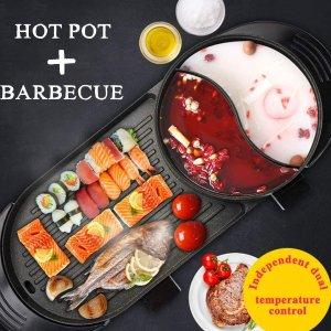 仅售£76 再次降价!多用途火锅烧烤一体锅 高颜值聚会神器 同时满足2个胃