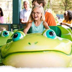 年票免费 不限次入园田纳西州Dollywood Parks & Resorts乐园Pre-K儿童门票优惠