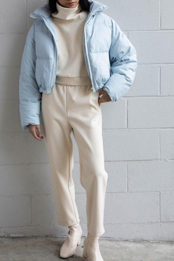 ELASTIC白色休闲裤