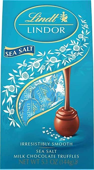 Lindor 海盐牛奶巧克力松露 5.1oz 6包