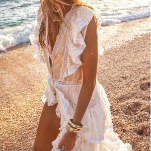 低至2.5折+额外7.5折Shopbop 夏日美裙惊喜大促,复古连衣裙$46