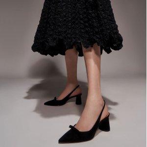 额外8.5折 绑带尖头鞋$16Charles & Keith 美鞋专场 封面蝴蝶结露跟鞋$30