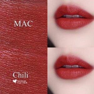 M·A·C7.2折,百搭色,黄皮也可入子弹头口红-chili  mini 1.8g