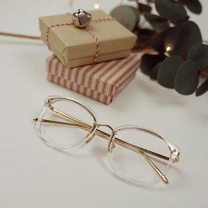 Lion | gold Clear Glasses | Prescription Glasses | Dualens