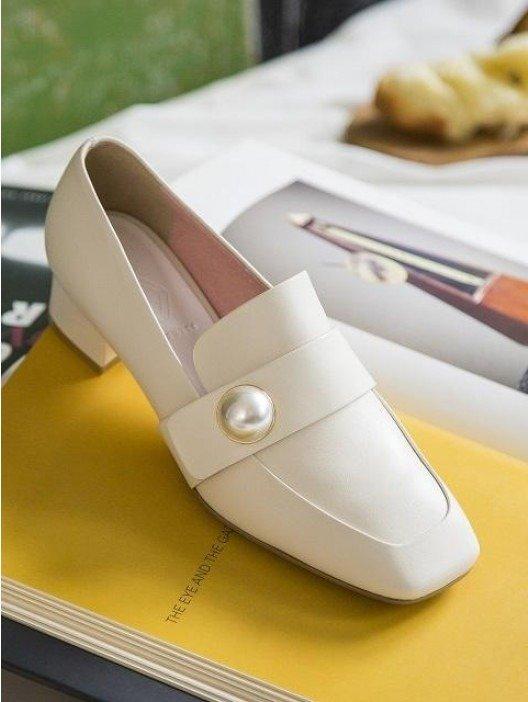 珍珠扣乐福鞋