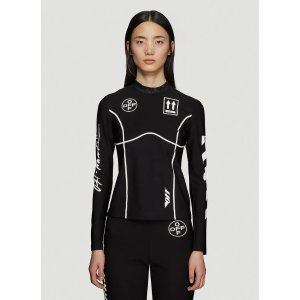 Off-WhiteDiag Basic Long Sleeve Top in Black