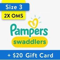 Swaddlers 婴儿纸尿裤两箱送$20礼卡