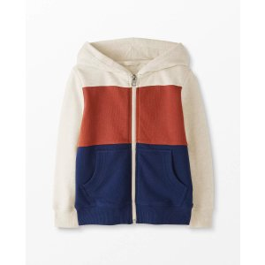 Hanna AnderssonColorblock Jersey Lined Hoodie In French Terry