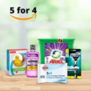 €2.95收修眉刀 消毒用品也参加Amazon 洗护用品买5付4 收男女洗护、清洁用品、日用杂货