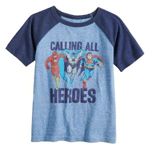 70a49d98d Jumping beansBoys 4-12 Jumping Beans® Justice League Raglan Graphic Tee