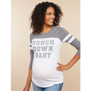 Motherhood MaternityTouchdown Baby ™ 3/4 Sleeve Maternity ShirtShop Maternity Fashion & Basics Online