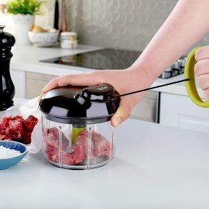 半价€14收白色款Tefal 手动粉碎机 适用于蔬菜、肉类、坚果、婴儿辅食等