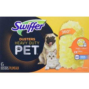$7.57(原价$9.97) 宠物除尘必备Swiffer 宠物重型除尘器  锁定多达 3 倍的灰尘和过敏原