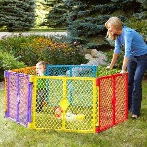 $49.99 (原价$75.4)North States 彩色儿童安全围栏(6板装),室内外通用