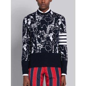 Thom Browne0-5动物纹纯羊毛衣