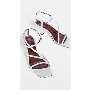 StaudGita银色凉鞋