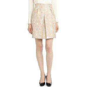 Brooks BrothersPetite Front Pleat Jacquard Skirt - Brooks Brothers