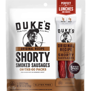 $3.41 每条$0.68Duke's 原味烟熏香肠 5条 4.4oz