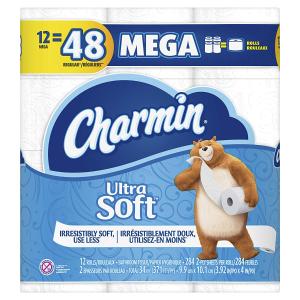$12.22(原价$20.99)Charmin 超柔软卫生纸 12卷 超大卷 1卷顶4卷