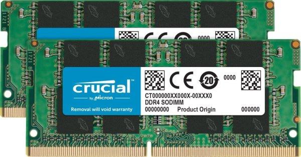 64GB Kit (32GBx2) DDR4 2666 MT/S CL19 SODIMM 笔记本内存