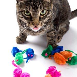 $2.84 包邮Hartz 猫咪玩具 12只彩色小老鼠 带有猫薄荷填充