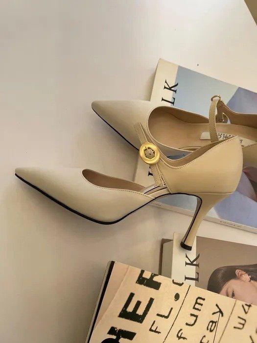 Flores 拼色高跟鞋
