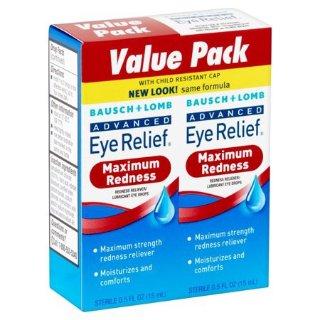 $4.98Bausch & Lomb Advanced Eye Relief Redness Eye Drops, 0.50 fl oz, twin pack