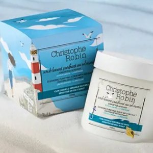 线上7折起+额外9.5折+送2小样Christophe Robin 洗护大促 海盐头皮磨砂膏2件套仅€11.83