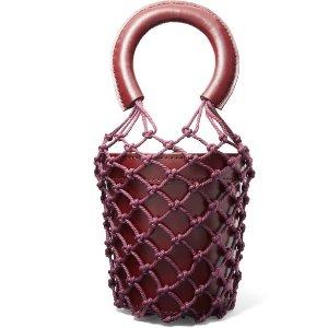 StaudMoreau 皮革绳结编织迷你水桶包