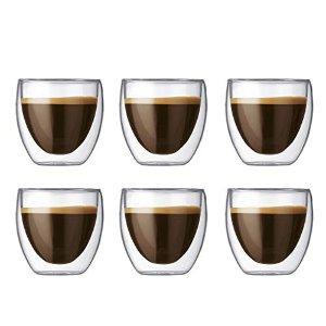 Bodum双层玻璃杯6个装