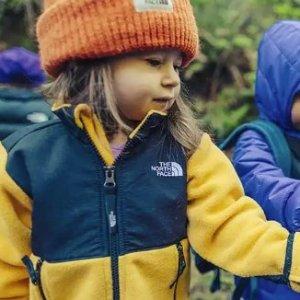 7.5折黑五开抢:The North Face 儿童抓绒正反两穿外套 多色可选