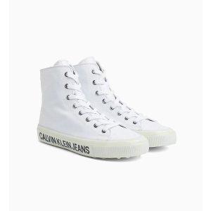 Calvin Klein Jeans白色logo帆布鞋