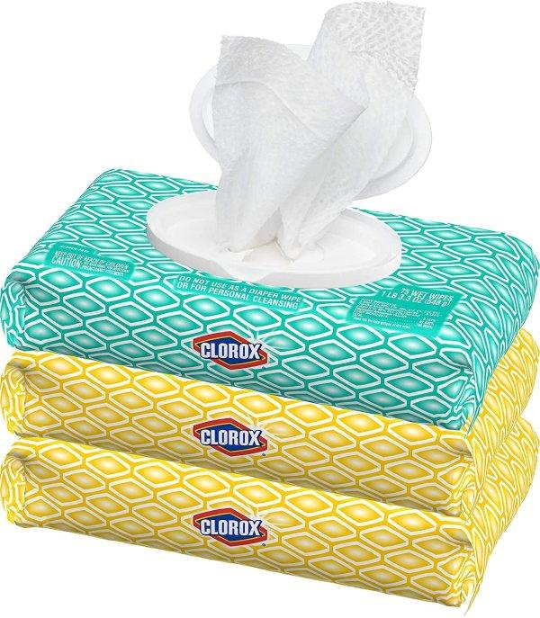 抽取式便携消毒湿巾超值3包装 共225片